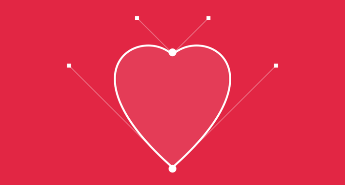 Draw a Heart in Sketch Using Only 2 Vector Points