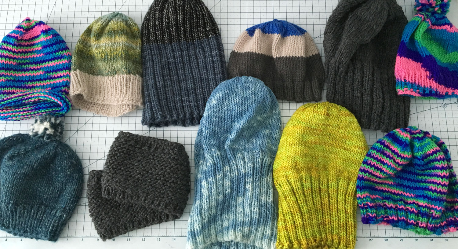 knit hats by Teresa