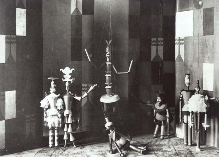 An example of Sophie Taeuber-Arp's Marionettes