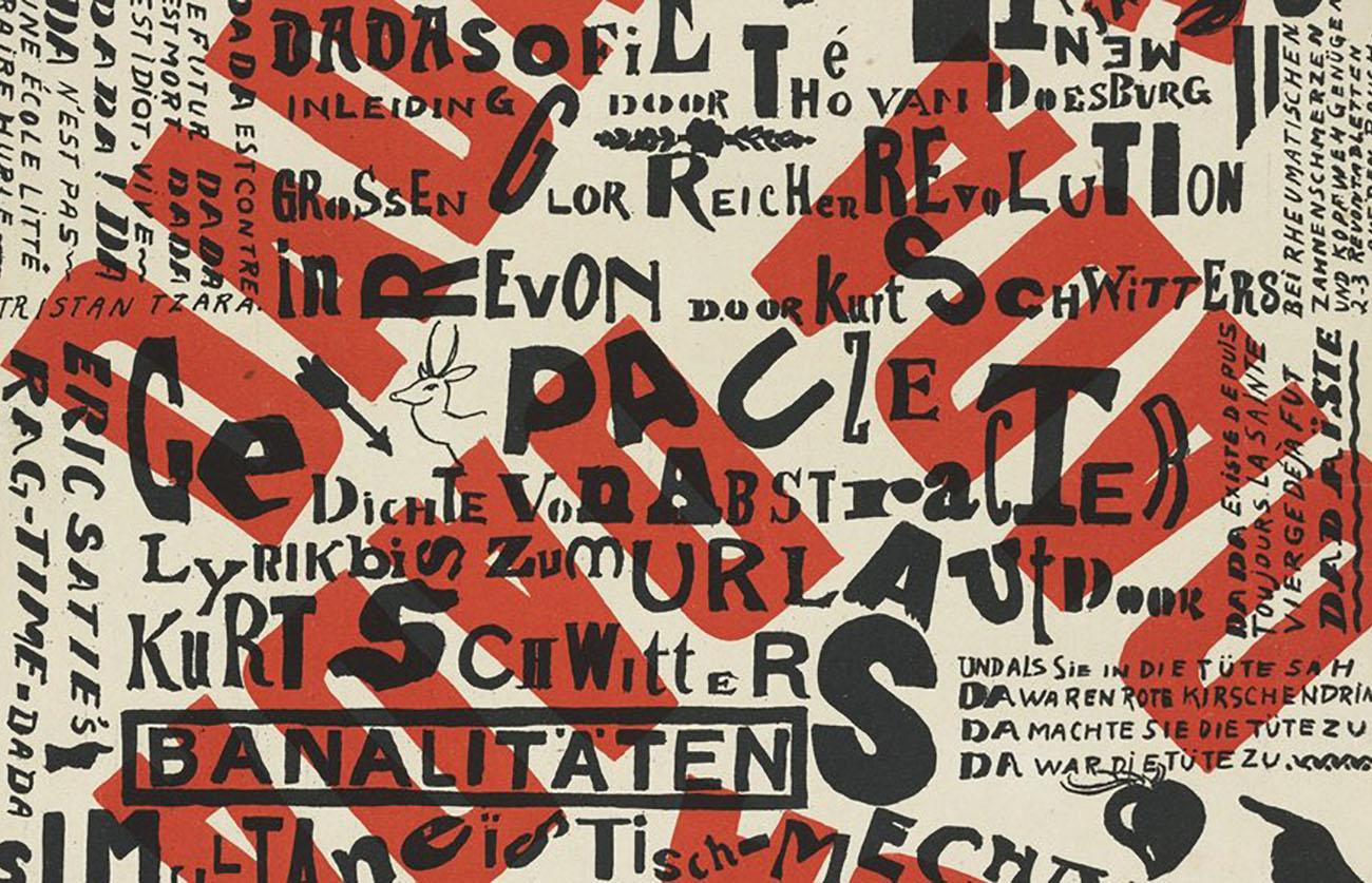 Kleine Dada Soirée, 1922, Theo van Doesburg with Kurt Schwitters