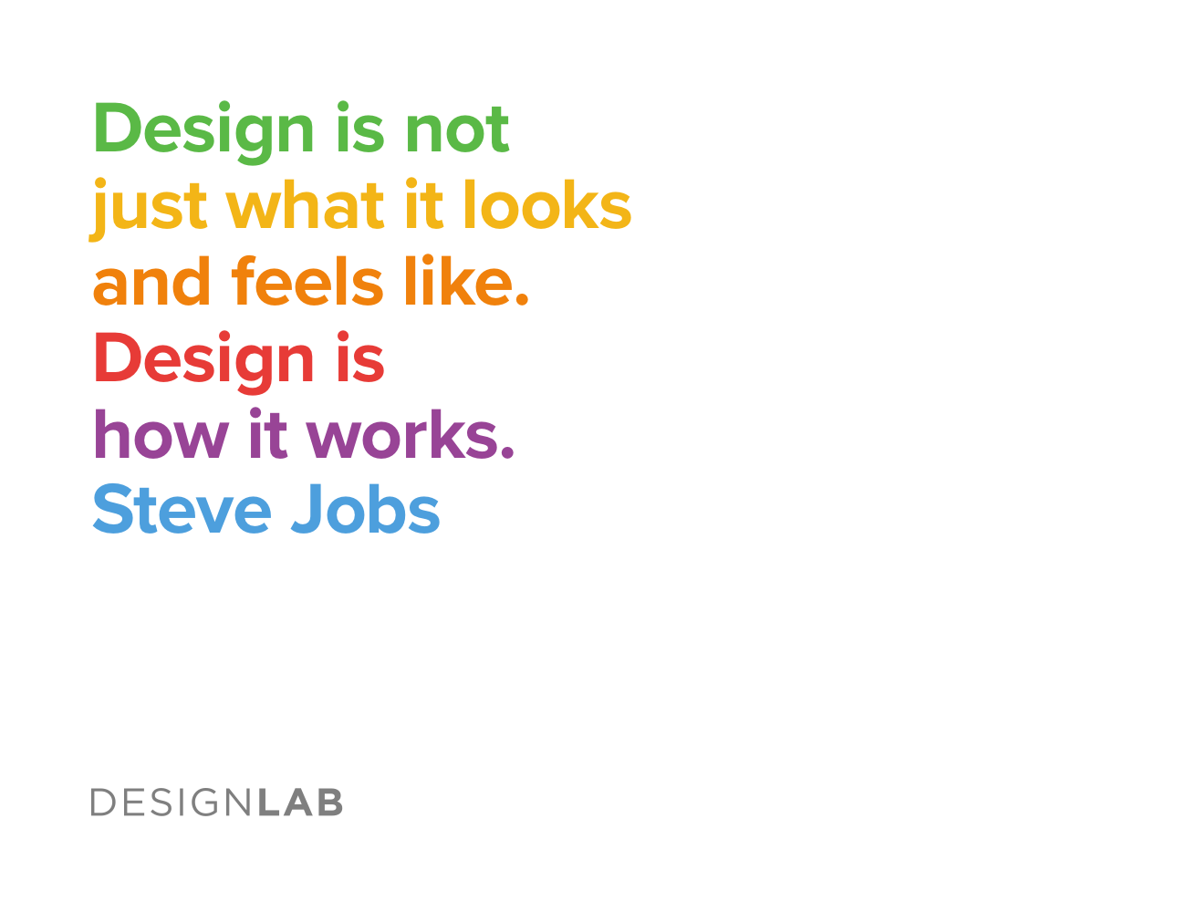 Design is not just what it looks like and feels like. Design is how it works. Steve Jobs