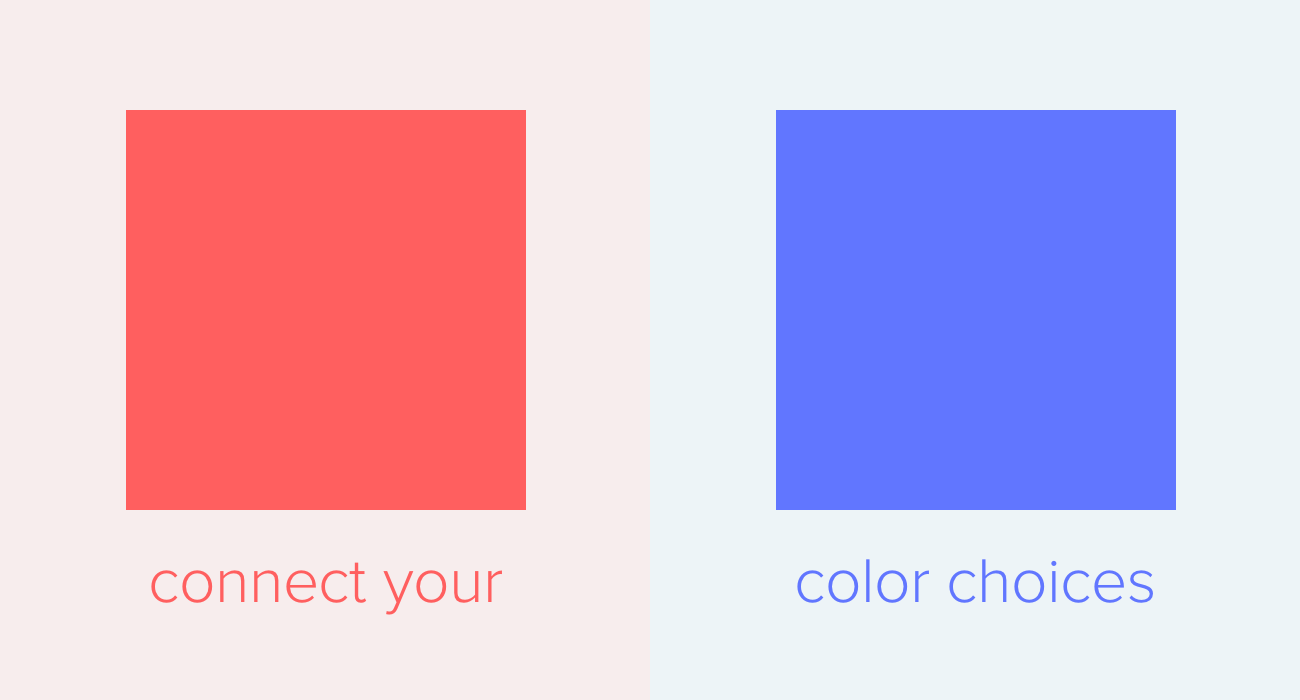 Connect your color choices