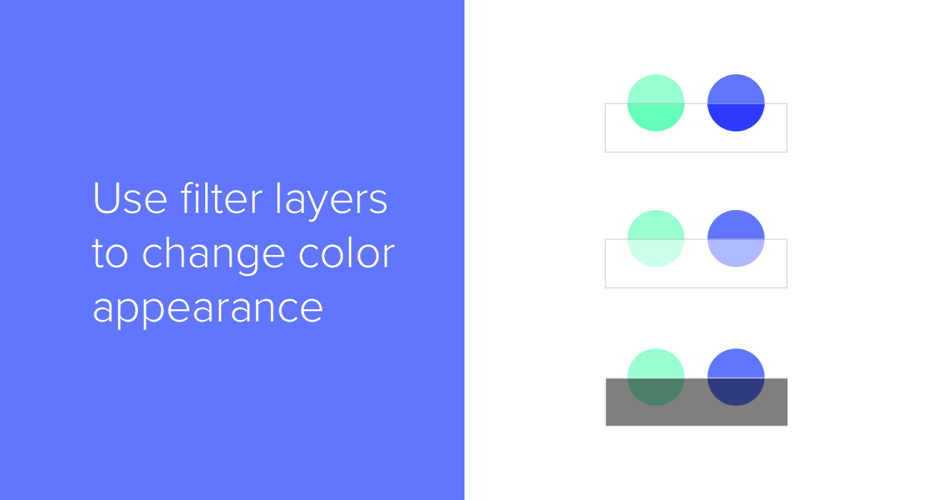 Use filter layers to change color appearance