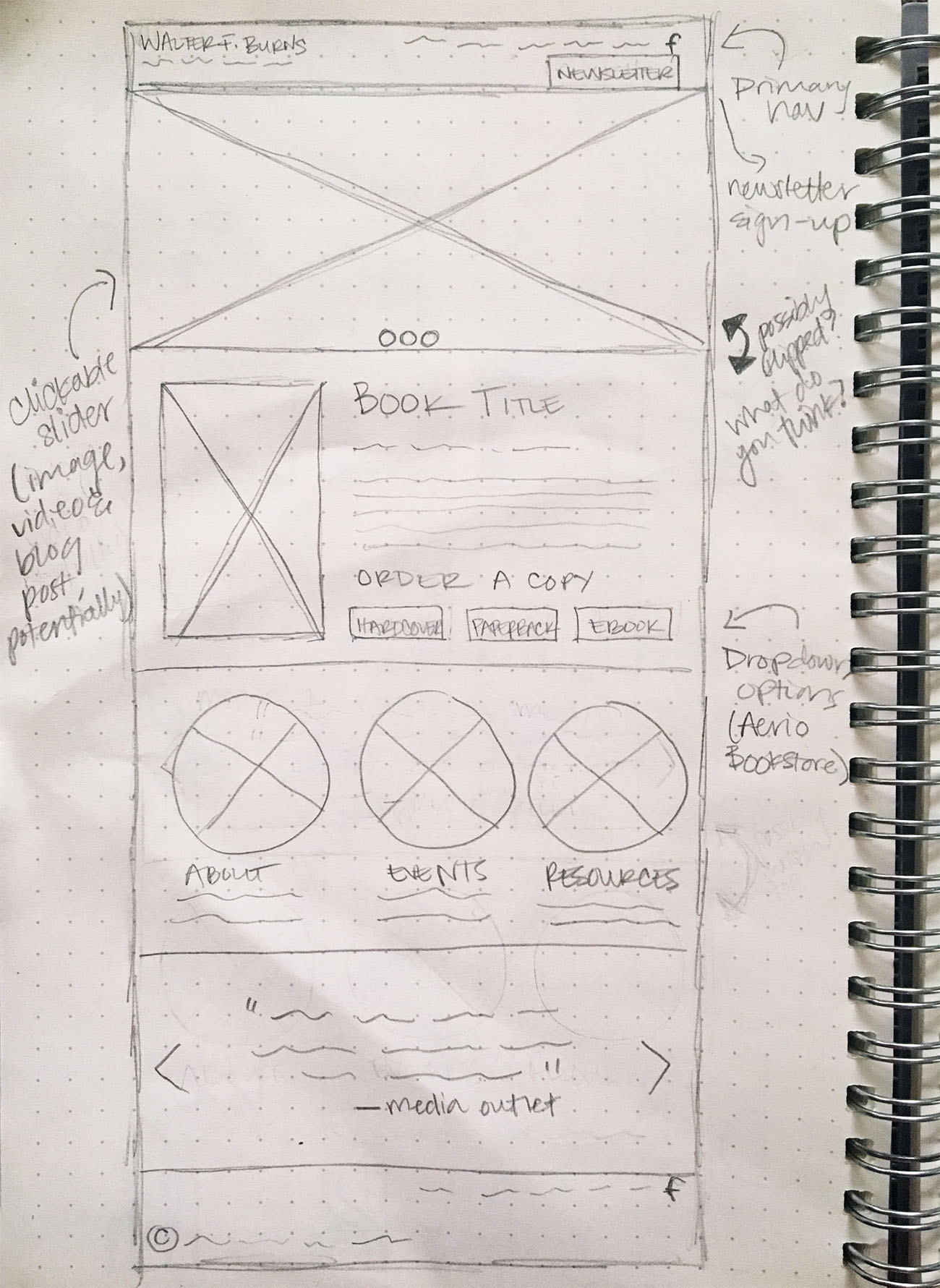 A first-round wireframe