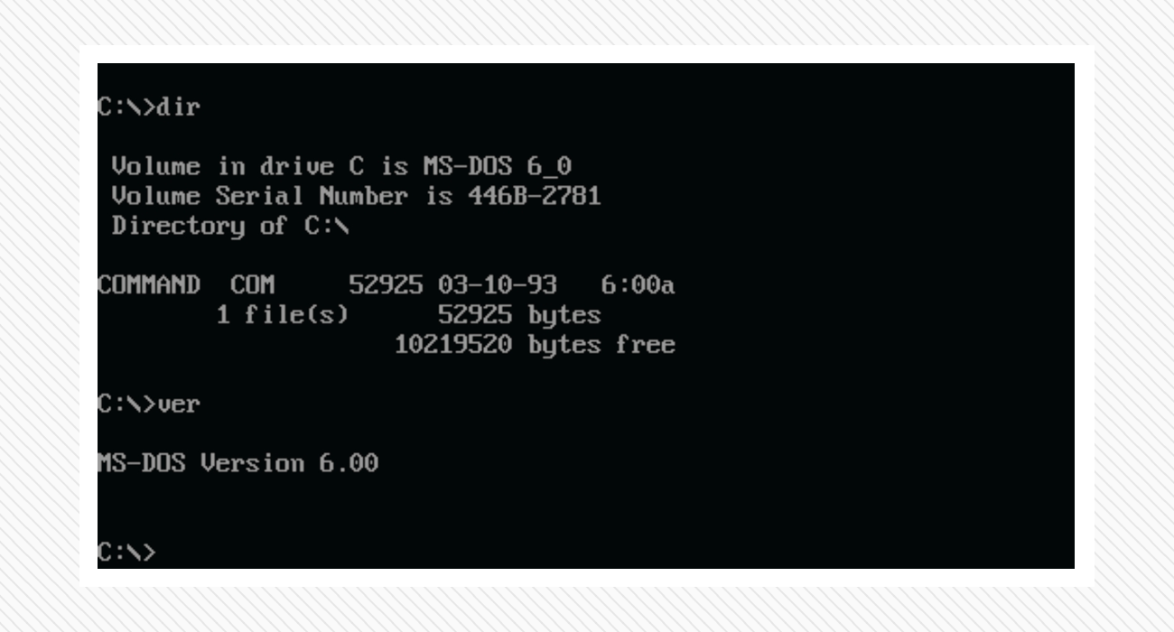 MS-DOS command line