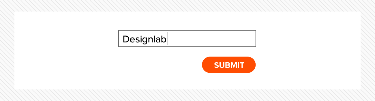 Cursor and submit button