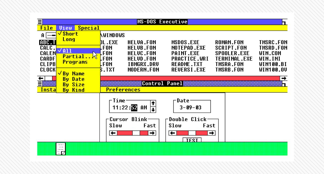 Microsoft Windows 1.01, 1985