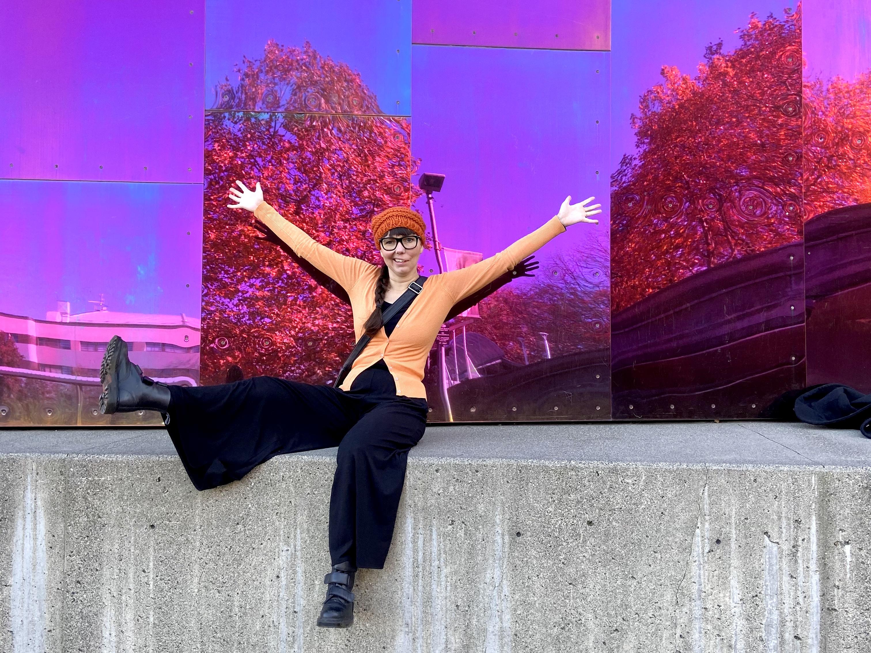 Olga exporing Seattle