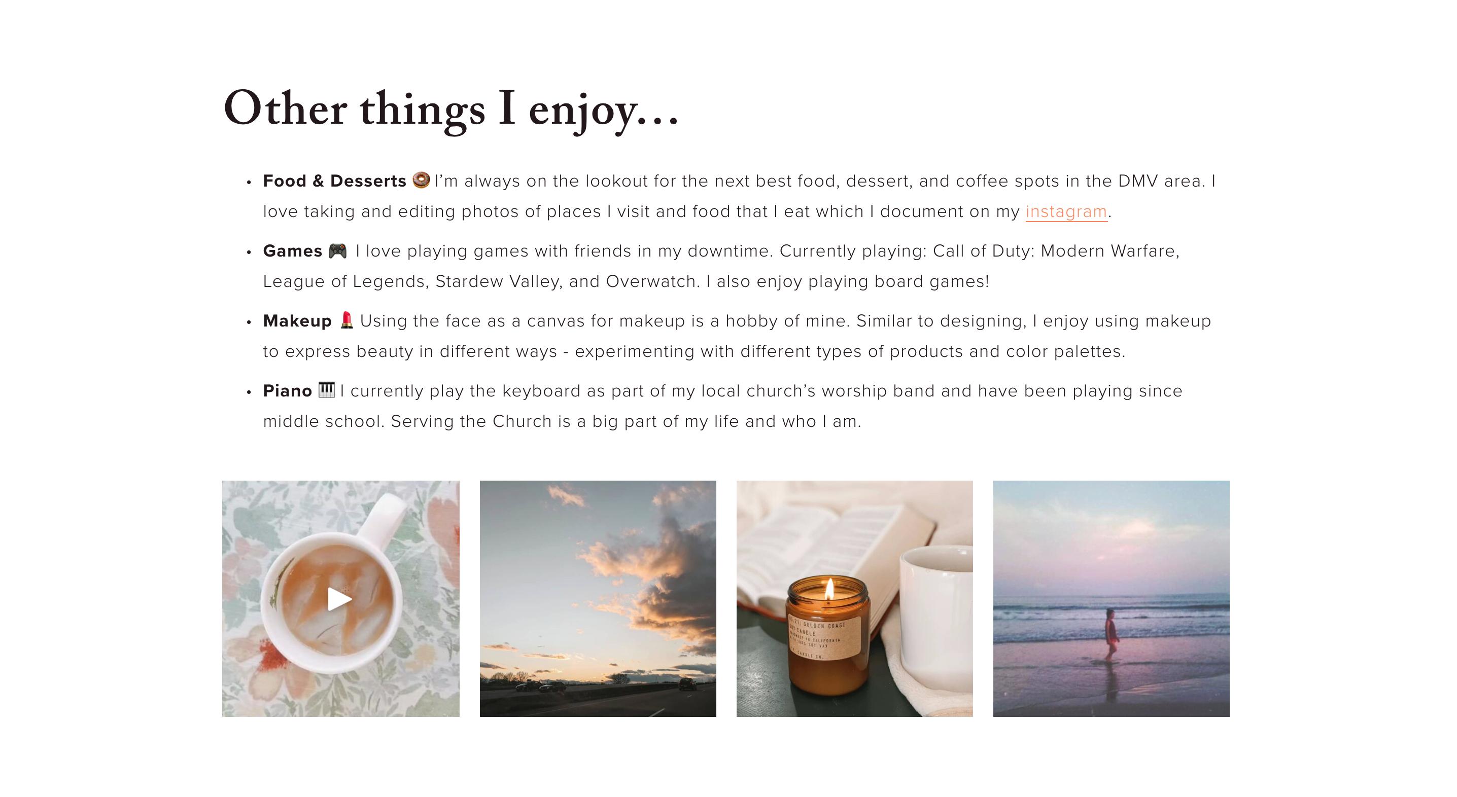 Jamie Cho Portfolio Homepage 2