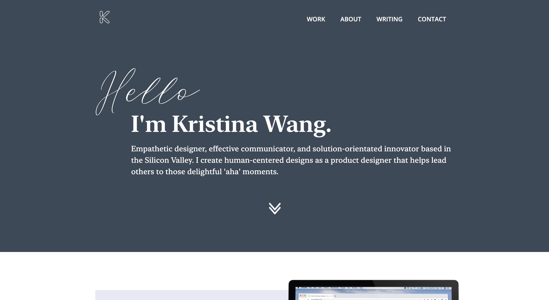 Kristina Wang Webflow Portfolio