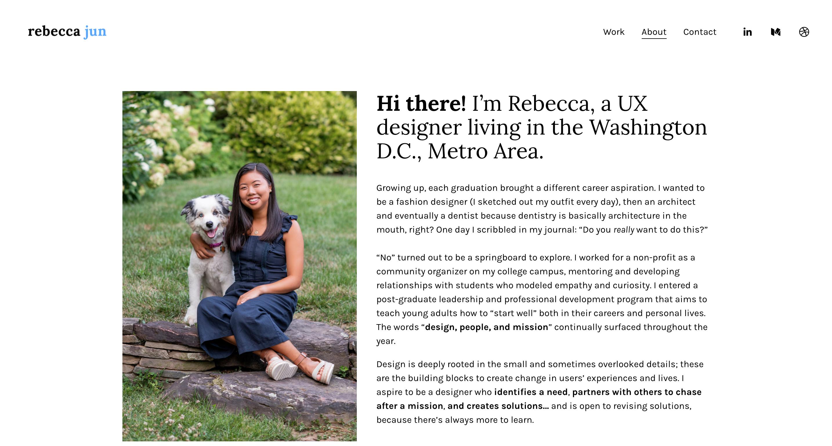 Rebecca Jun Portfolio Homepage