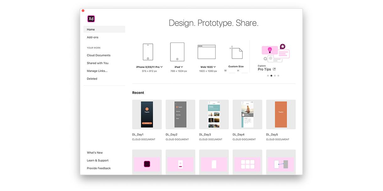 Adobe XD Prototyping Tool