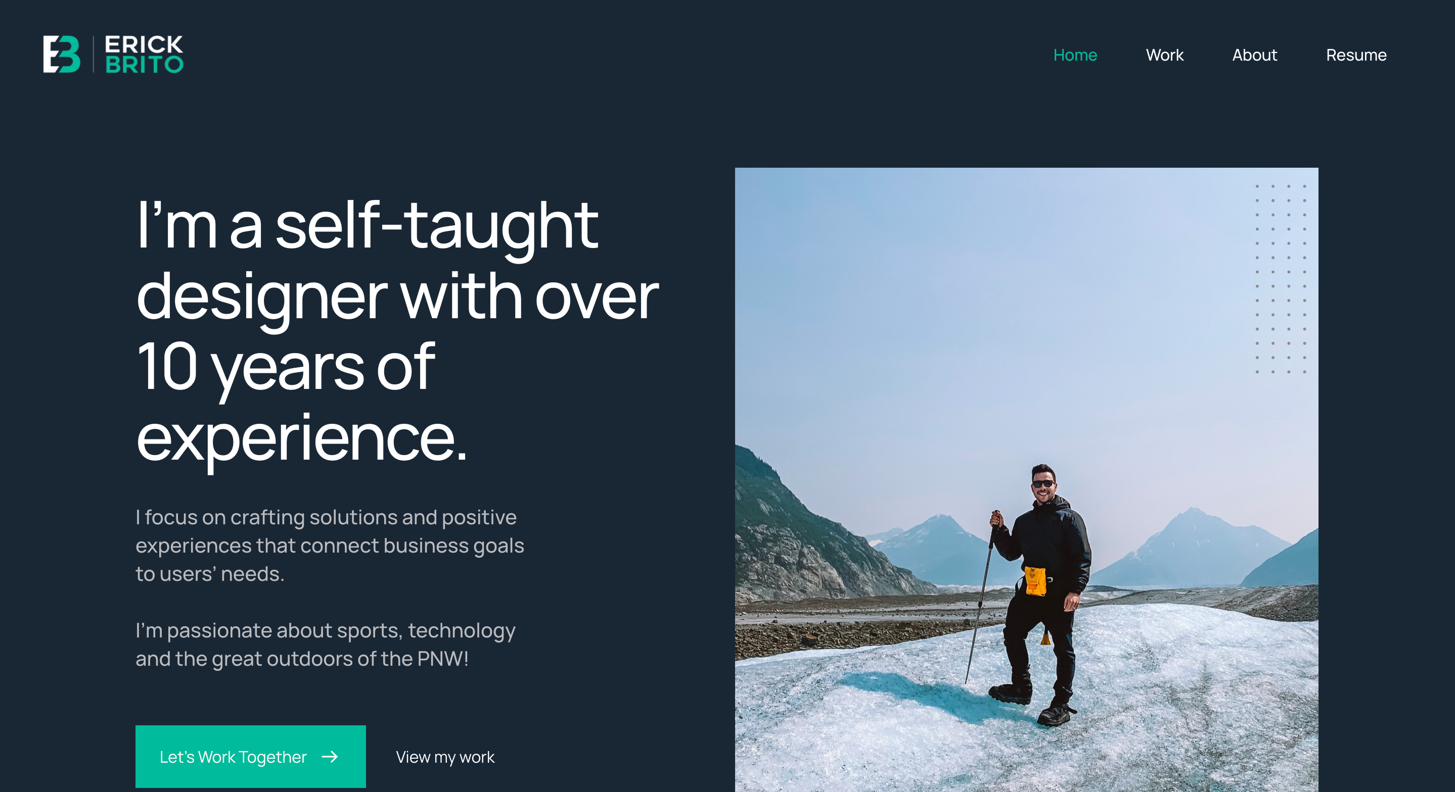 Erik Brito Portfolio Homepage