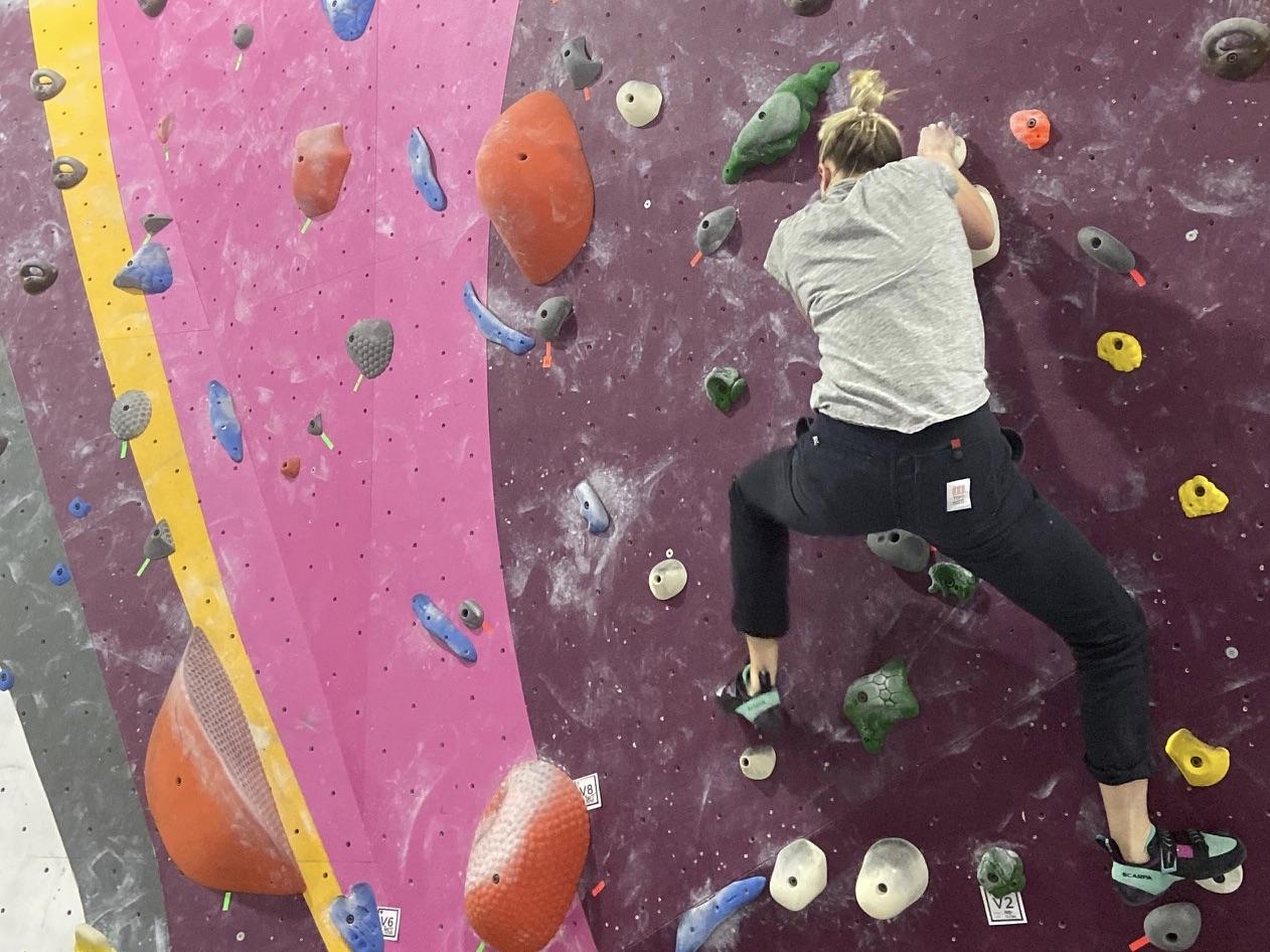 Mary Schwab Climbing New