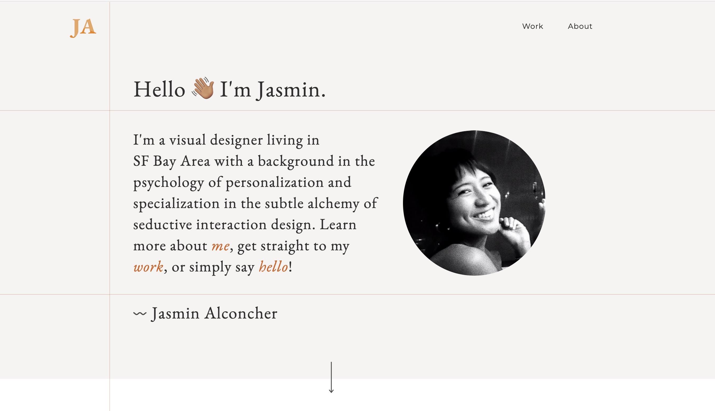 Jasmin Alconcher Wix Portfolio
