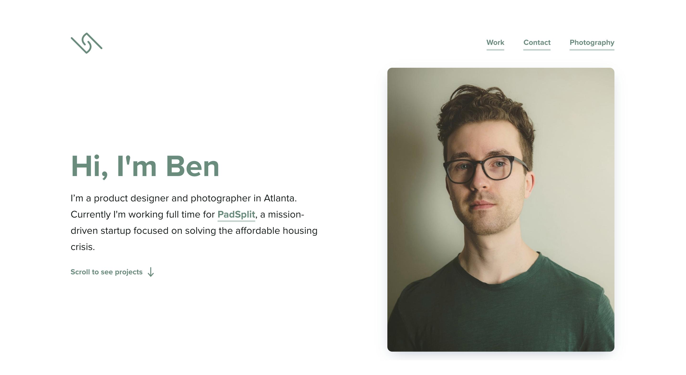 Ben Griggs Portfolio Homepage