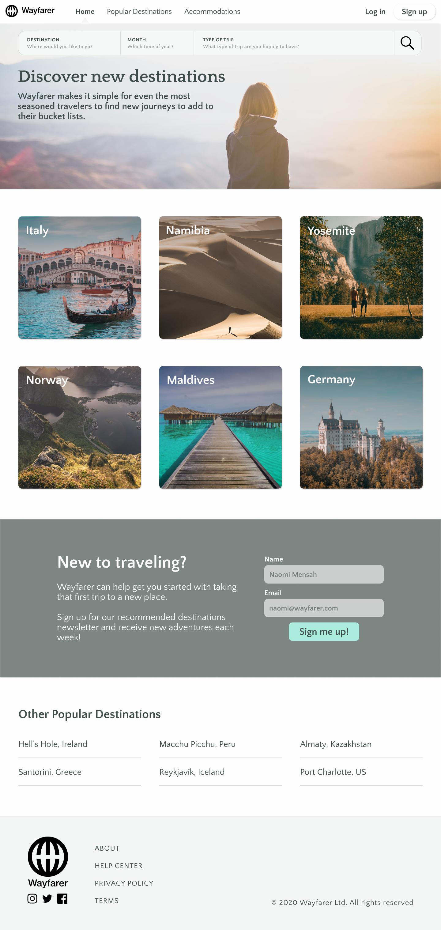 Emma Desktop Homepage