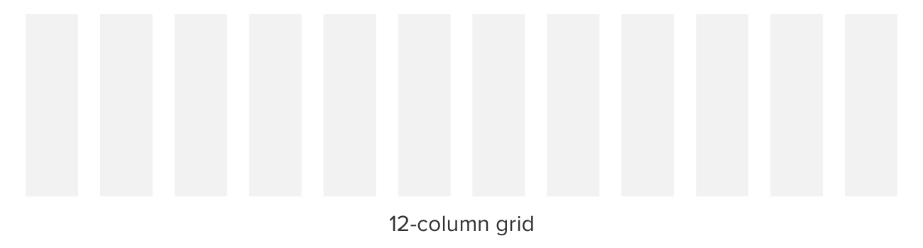 12 column grid illustration