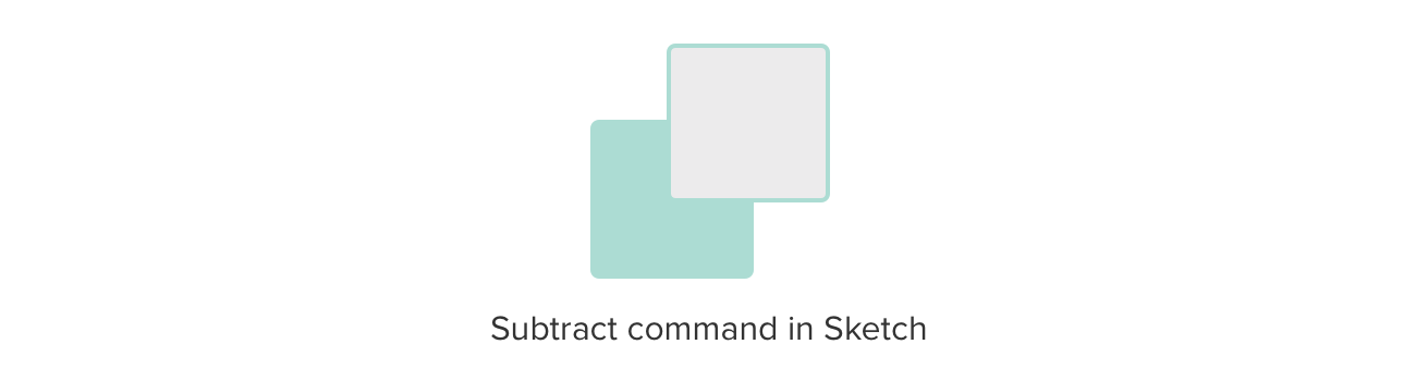 Subtract command in Sketch