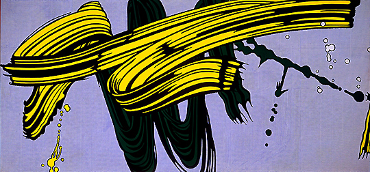 Roy Lichtenstein, Yellow and Green Brushstrokes, 1966